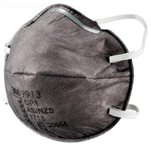 3M™ Cupped Particulate Respirator 9913, GP1 with Nuisance Level* Organic Vapour Relief的詳細資料
