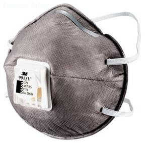 3M™ Cupped Particulate Respirator 9913V, GP1 with Nuisance Level* Organic Vapour Relief, valved的詳細資料