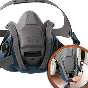3M™ Rugged Comfort Quick Latch Half Facepiece Reusable Respirator 6502QL的詳細資料