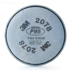 3M™ Particulate Filter 2078, P95, with Nuisance Level Organic Vapor/Acid Gas Relief的詳細資料