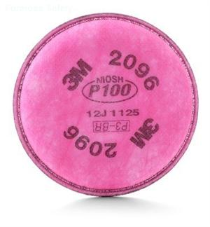 3M™ Particulate Filter 2096, P100, with Nuisance Level Acid Gas Relief