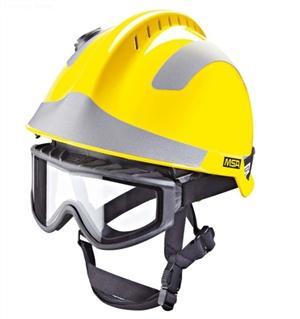 details of MSA F2 X-TREM helmet,YELLOW