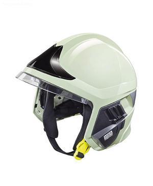 details of MSA F1 XF Fire Helmet, PHOTOLUMINESCENT