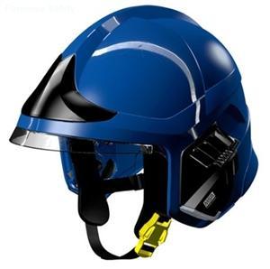 details of MSA F1 XF Fire Helmet,BLUE