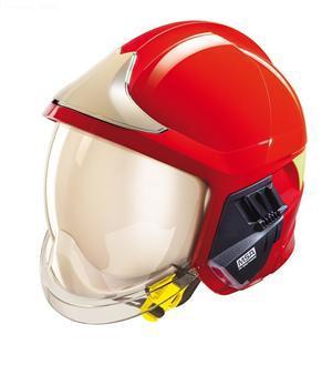 details of MSA F1 XF Fire Helmet,RED