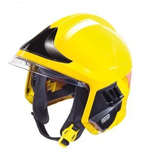 details of MSA F1 XF Fire Helmet,YELLOW